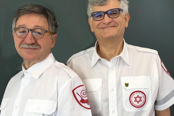 Luciano Bassani e Sami Sisa dell'AMDA, che sostiene la costruzione della nuova banca del sangue