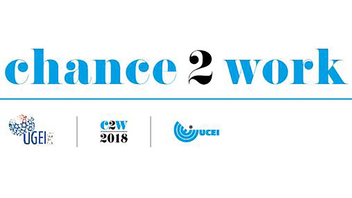 Il logo del progetto Chance2Work rivolto ai giovani ebrei