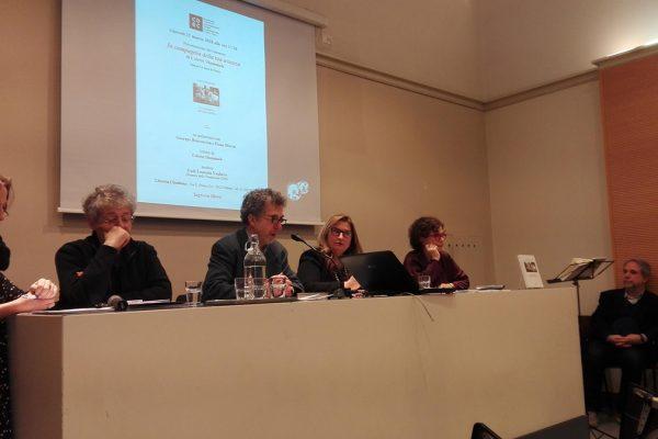 I relatori alla presentazione del libro di Colette Shammah