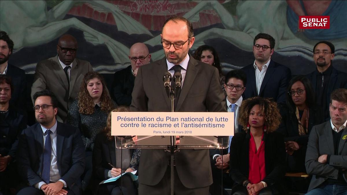 Il primo ministro francese Edouard Philippe presenta il piano 2018-2020 contro il razzismo e l'antisemitismo