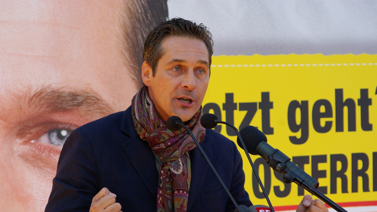 Heinx Christian Strache, leader del partito austriaco FPO