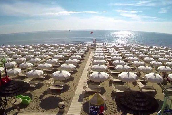 Una spiaggia di Milano Marittima
