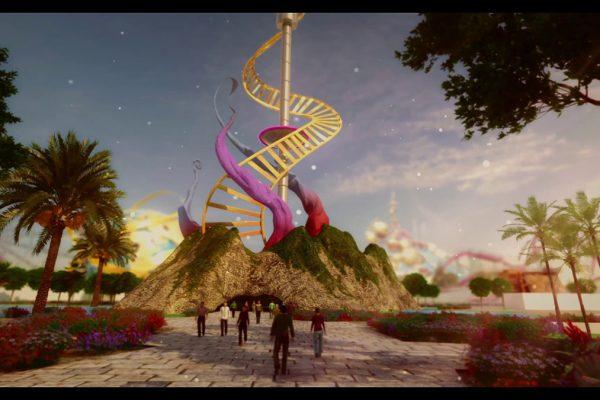 Un frame del video del nuovo parco di divertimenti a Dimona Plaim Park, in fase di realizzazione