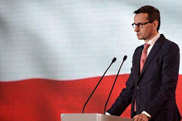 Il premier della Polonia Morawiecki, che ha approvato una legge sulla restituzione dei beni confiscati agli ebrei