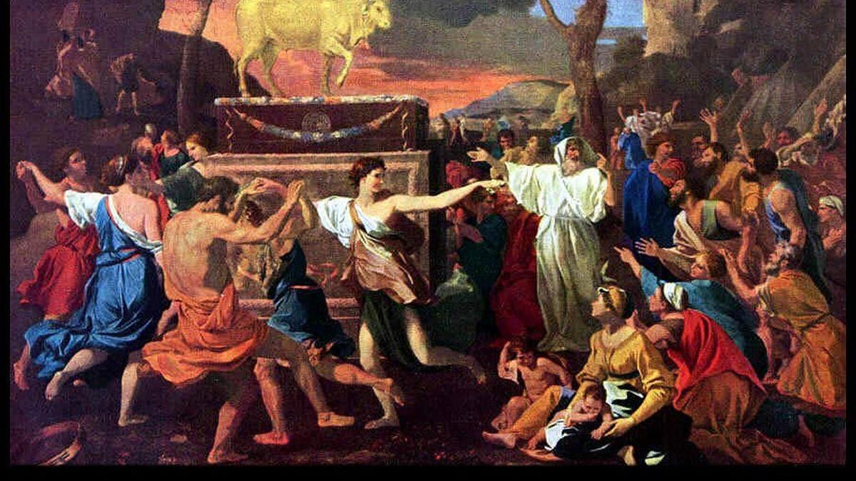 'Mosè e il vitello d'oro', Nicolas Poussin