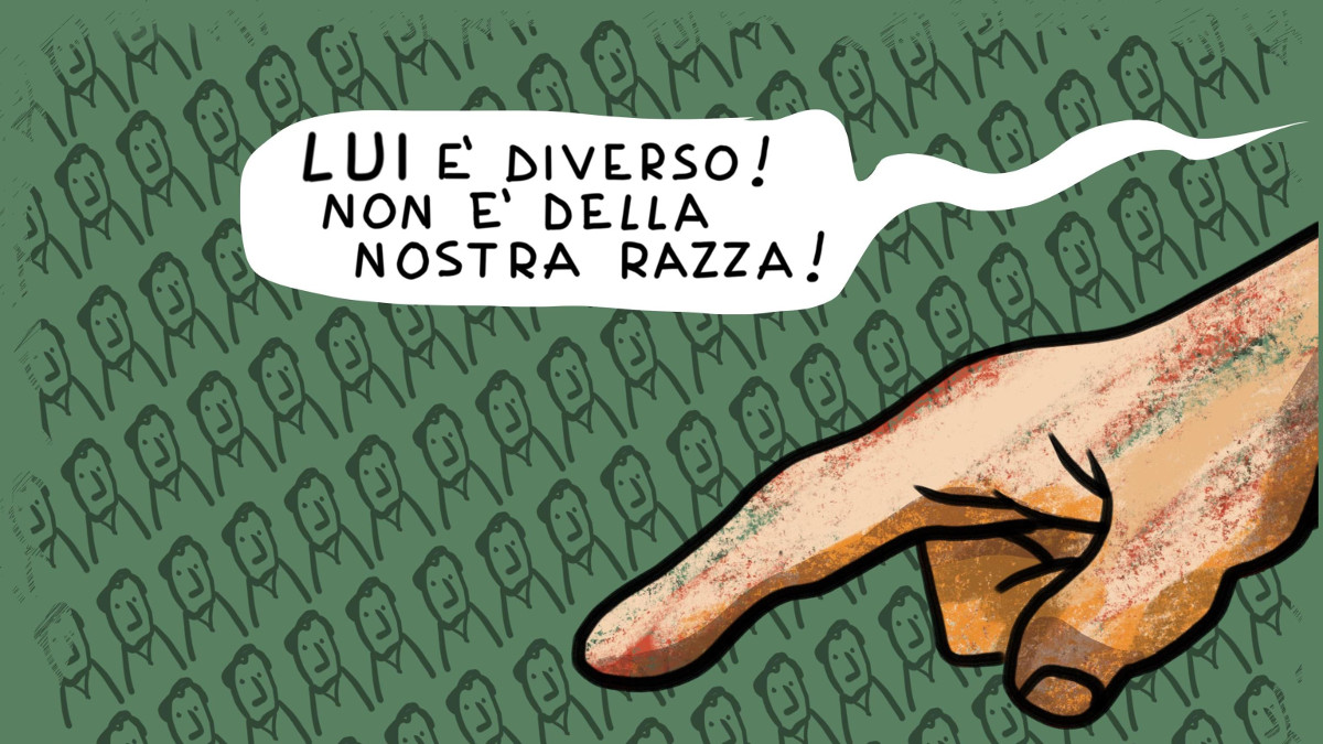 Uno dei fumetti sulle leggi razziali esposti a Torino fino al 1 giugno