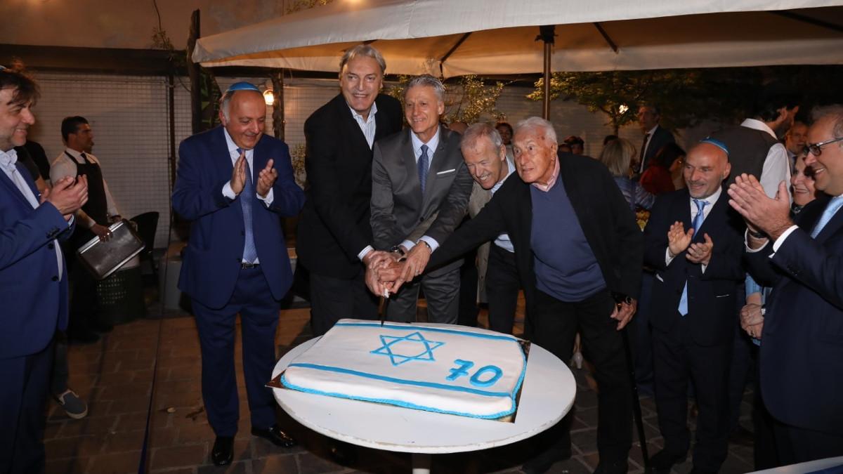 Gli ex campioni di basket alla serata del Noam per i 70 anni di Israele