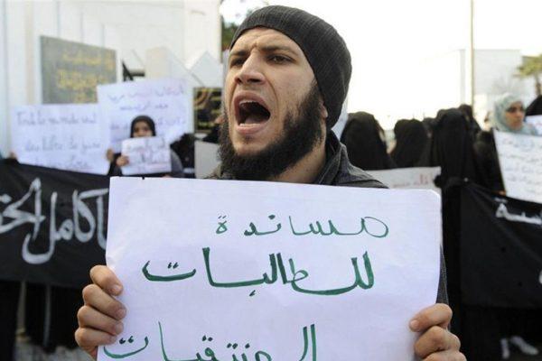 Un sostenitore dell'Islam salafita