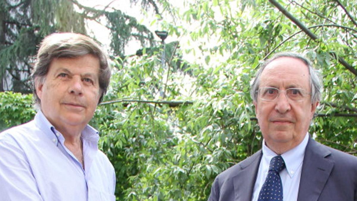 I co-presidenti della Comunità ebraica di Milano, Milo Hasbani e Raffaele Besso (da sinistra)