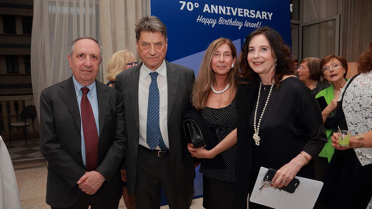 Serata A.M.A.T.A.: Claudio Magris con Raffaele Besso, Michela Battiza, Marina Gersony