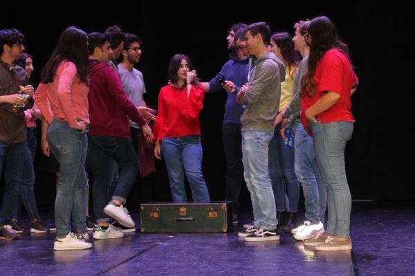La perfomance delle classi della Scuola Ebraica al festival Laiv Action