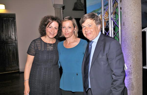 Giuditta Ventura, Gioia Bartali e Milo Hasbani alla serata del KKL