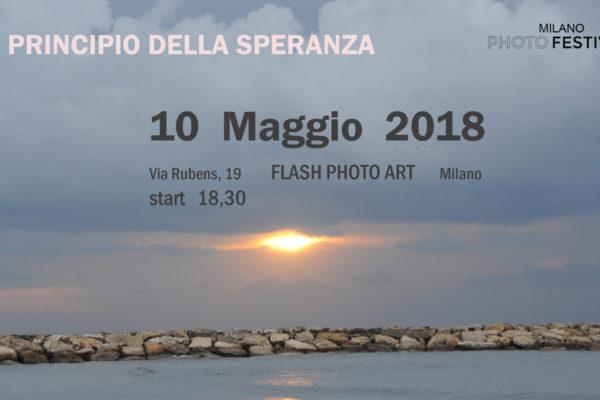 la locandina della mostra fotografica 'Il principio della speranza' di Mario Golizia