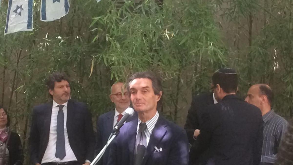 IL presidente della Regione Lombardia Fontana ai festeggiamenti per Yom Haazmaut