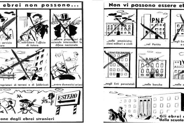 I divieti per gli ebrei previsti dalle leggi razziali del 1938