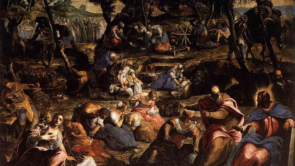 Gli ebrei nel deserto nel dipinto di Jacopo Tintoretto