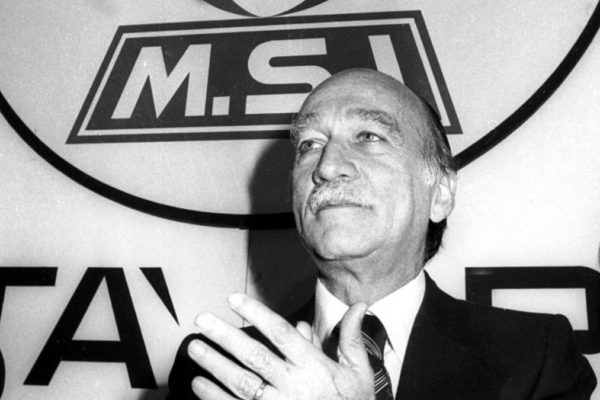 Giorgio Almirante, leader dell'MSI