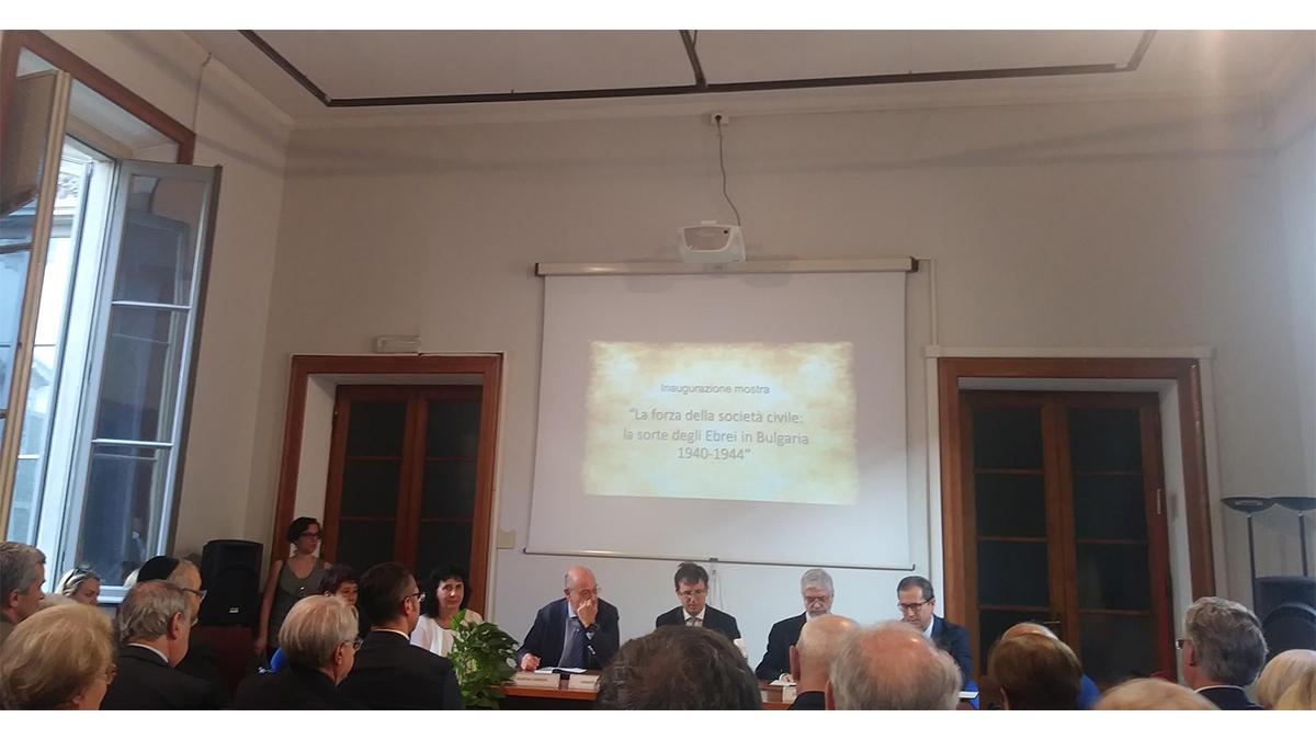 La presentazione della mostra sugli ebrei in Bulgaria