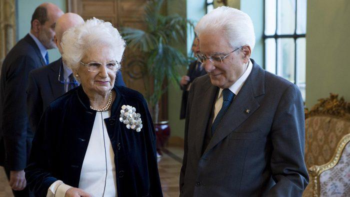 Liliana Segre con il presidente Sergio Matarella