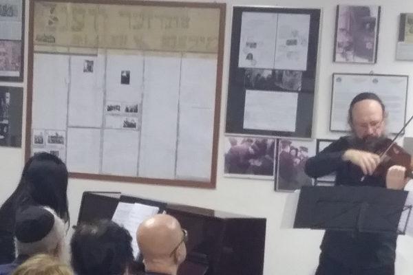 I musicisti alla serata di musica organizzata il 27 giugno al Beth Shlomo