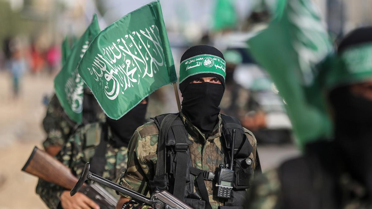Membri delle Brigate Izz ad-Din al-Qassam, braccio armato di Hamas (20 luglio 2017)