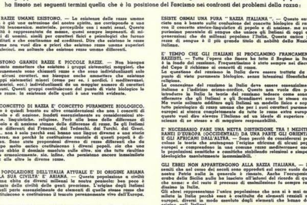 Il Manifesto della Razza del 14 luglio 1938