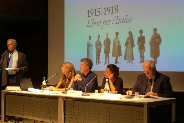 relatori all'inaugurazione della mostra del CDEC sugli ebrei nella Granda guerra