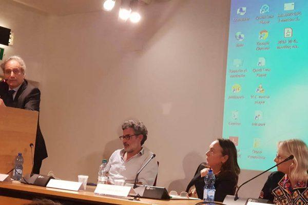 I relatori dell'evento sulle sfide educative di Italia e Israele organizzato dall'Associazione Italia Israele