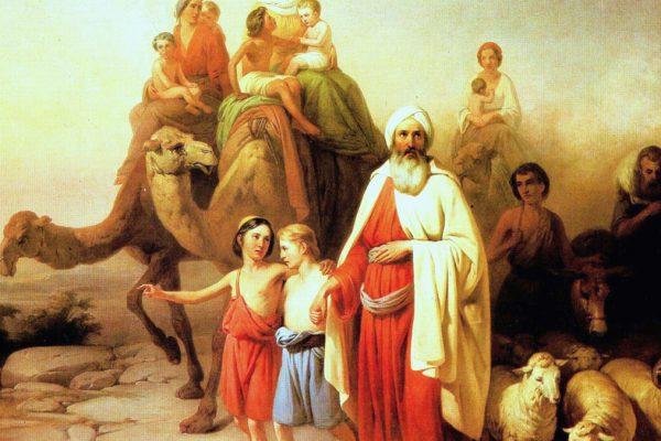 Una scena della Parashà di Lech Lechà, nel dipinto di Joszef Molnar