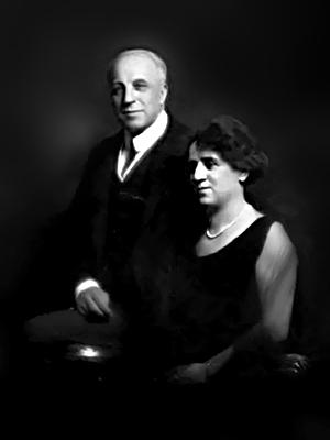 Ettore Modigliani con signora