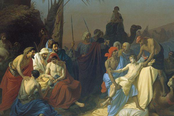 Un dipinto di Konstantin Flavitsky 'Giuseppe venduto dai suoi fratelli'