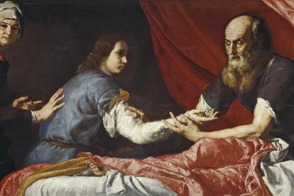 "Dipinto di Josè de Ribera ""Isacco benedice Giacobbe"""