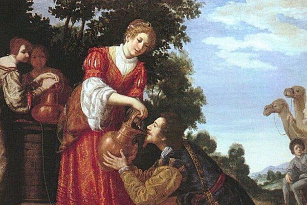 Rebecca e Eleazaro al pozzo, in un dipinto di Jacopo Vignali