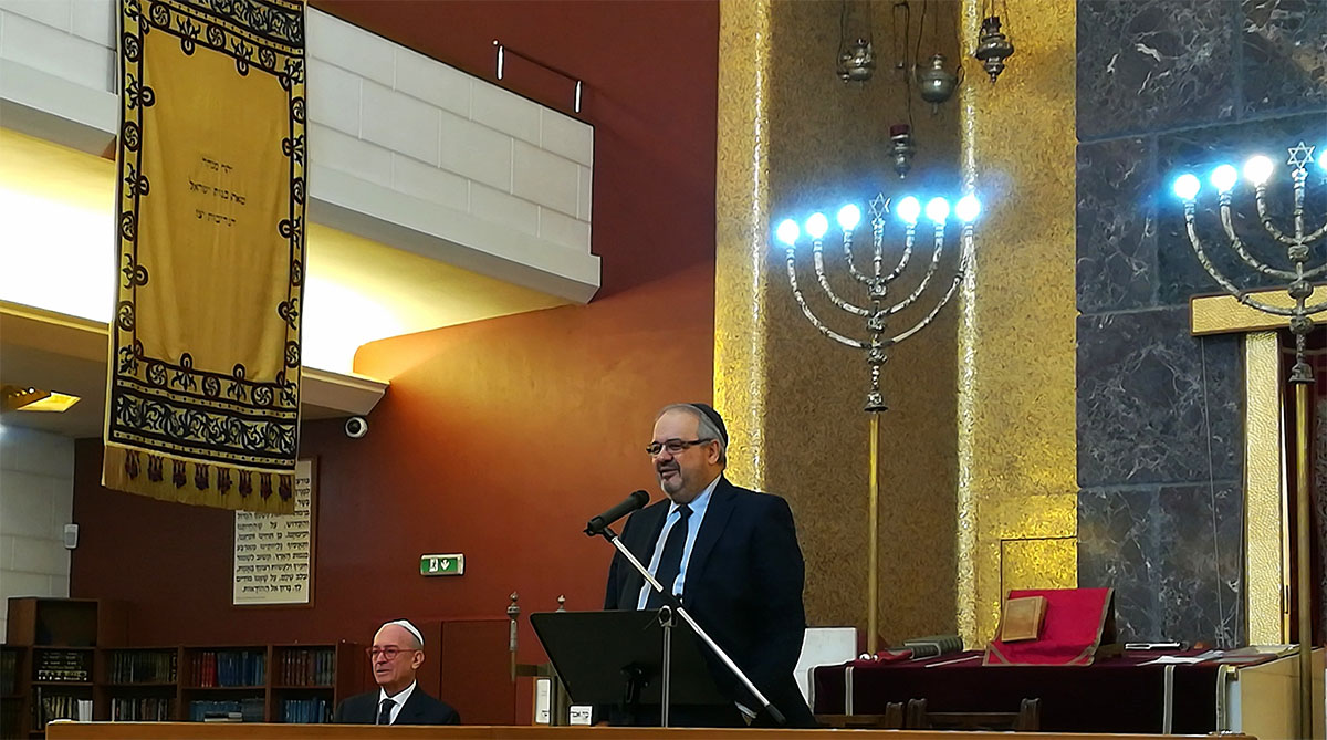Rav Arbib all'apertura di Jewish in the City
