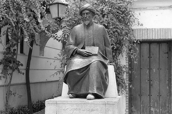 La Statua de Rambam nella Juderia di Cordoba