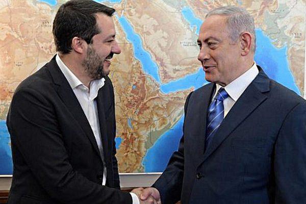 Matteo Salvini e Benjamin Netanyahu
