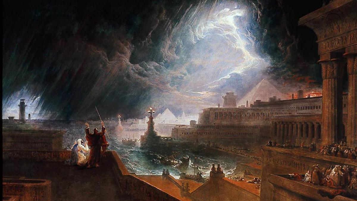 John Martin 'La settima piaga in Egitto'