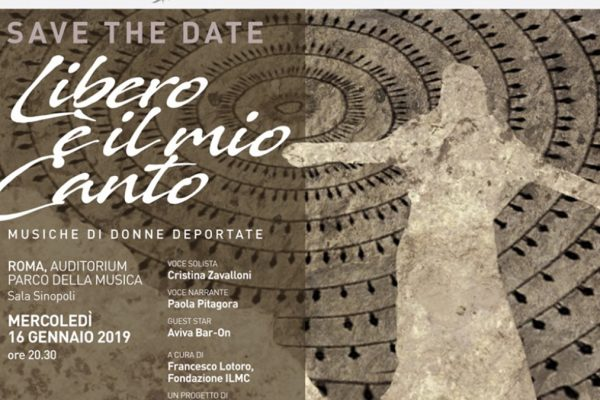 La locandina del concerto 'Libero è il mio canto' del 16 gennaio a Roma