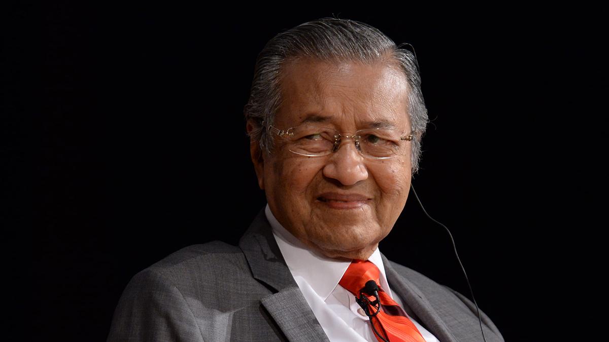 Il presidente della Malesia Mahathir Mohamad