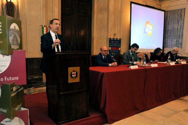 Il sindaco di Milano Giuseppe Sala a Palazzo Marino per la commemorazione del Giorno della memoria 2019