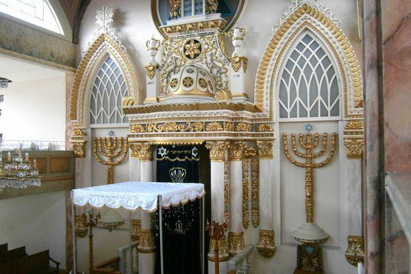L'interno di una sinagoga a città del Messico