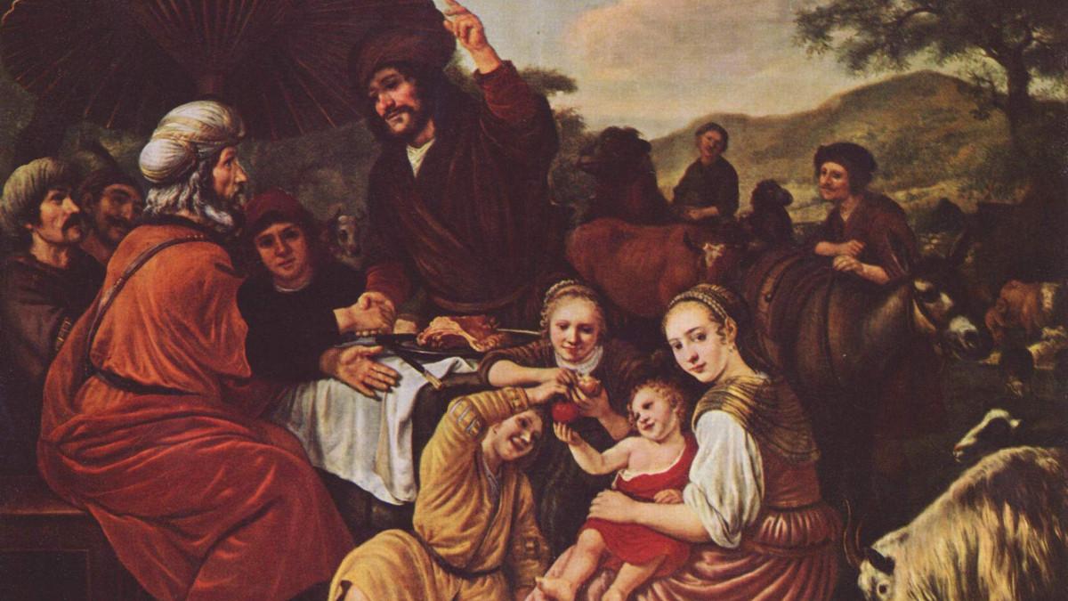 (Il quadro di Moshè e Yitrò è opera di Jan Victors (Amsterdam, 1619 –1679)).