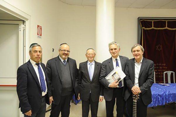 I relatori alla presentazione del libro di Guido Hassan sugli ebrei in Libia