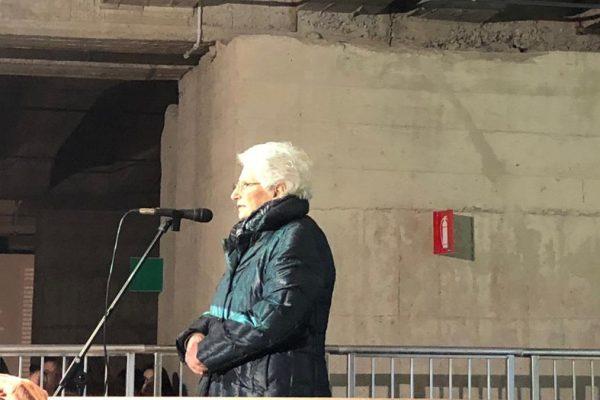 Liliana Segre al memoriale della Shoah