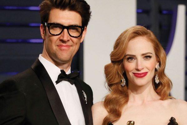 Il regista israeliano Guy Nattiv con la pridttrice del film Skin, vincitore dell'Oscar come Miglior Cortometraggio