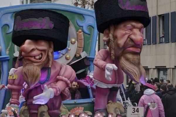 I carri antisemiti al carnevale di Aalst in Belgio