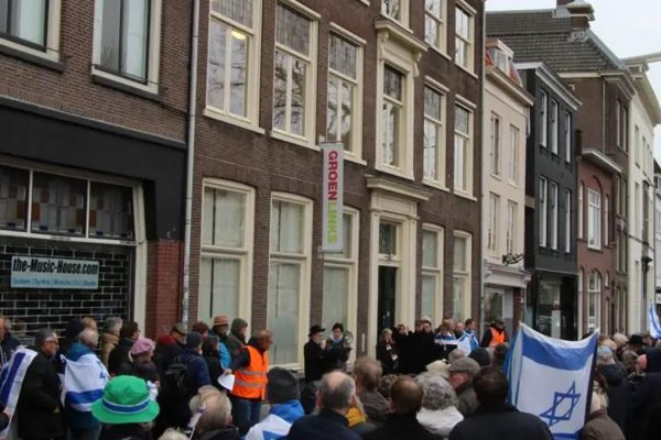 La manifestazione in Olanda dei cristiani per Israele