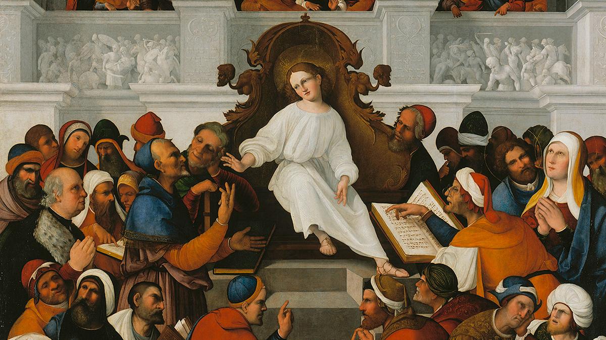 'Il Bar Mizva di Gesù' di Ludovico Mazzolino esposto al Mesi nella mostra 'Il Rinascimento parla ebraico'