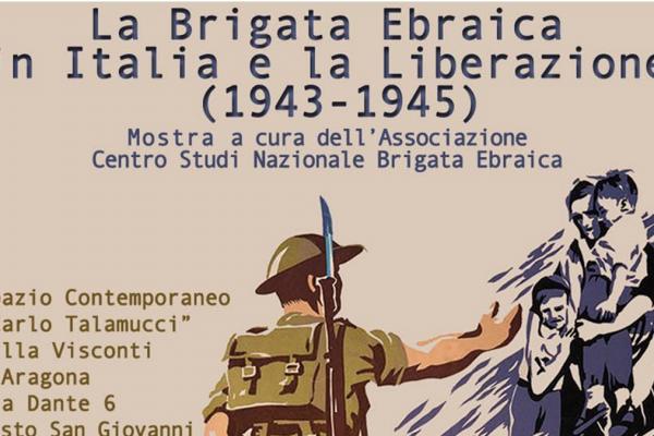La locandina della mostra sulla brigata ebraica