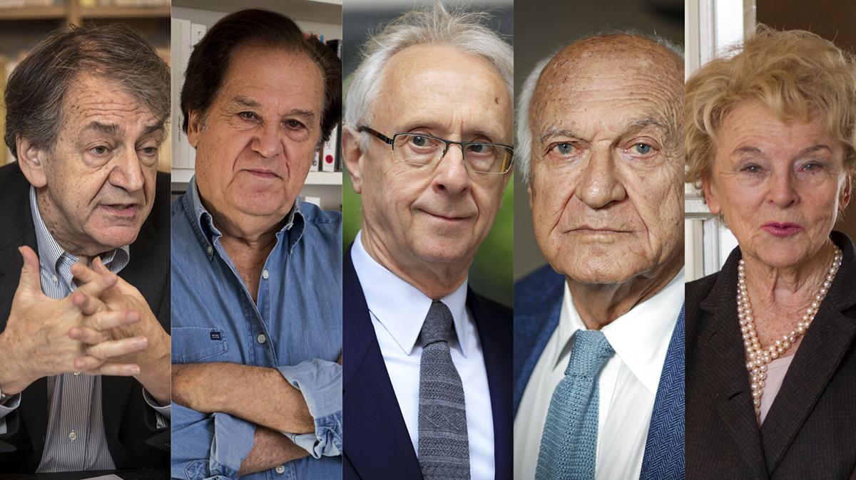 Alcuni degli intellettuali francesi che hanno scritto un editoriale chiedendo un processo per Sarah Halimi